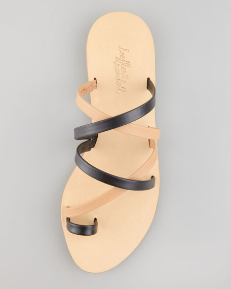 Sarie Two-Tone Toe-Ring Sandal