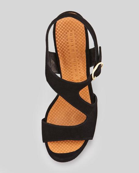 Cornelia Suede Cross-Band Sandal