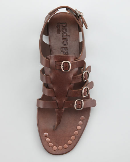 Galatea Buckled Gladiator Thong Sandal