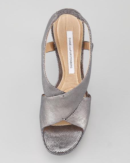Zia Slingback Metallic Platform Sandal