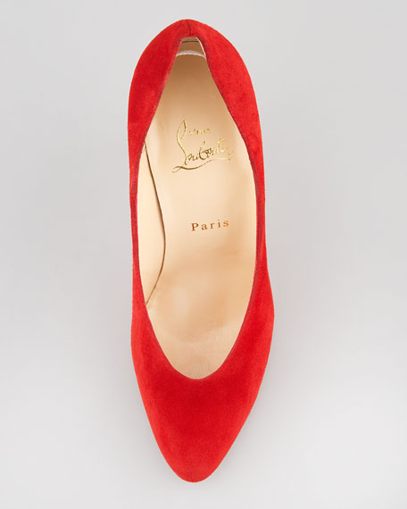 Yousra Choked-Up Suede Red Sole Pump
