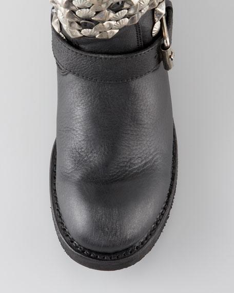 Tokyo Studded Flat Short Boot