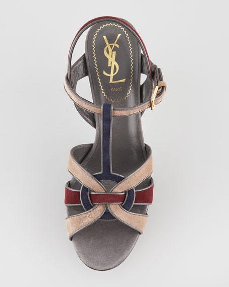 Tribute Colorblock Suede Sandal