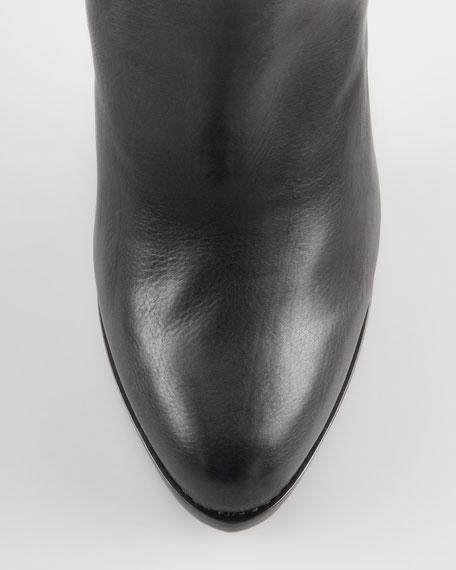 Aymeline Lift-Heel Chelsea Boot