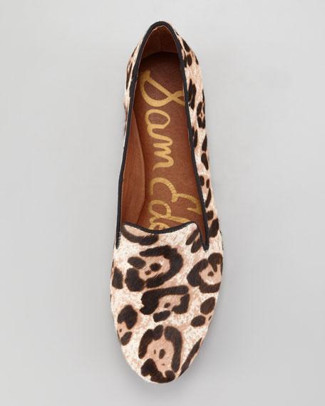 Alvin Leopard-Print Calf Hair Slipper