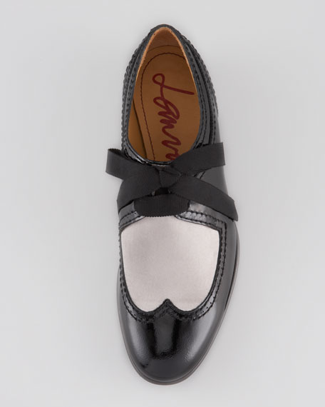 Grosgrain Lace-Up Derby