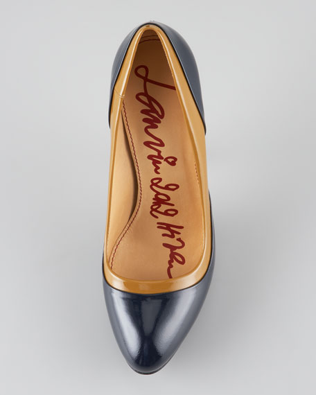 Two-Tone Patent Leather Pump