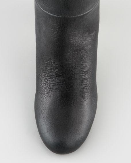 Chunky-Heel Knee Boot