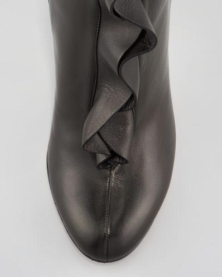 Ruffle-Front Napa Boot