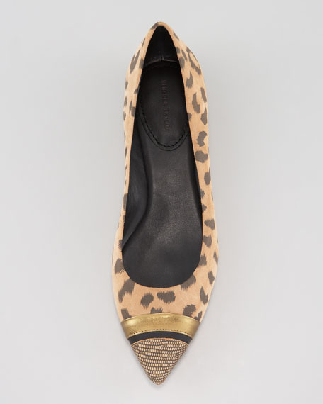 Lola Suede Leopard-Print Flat
