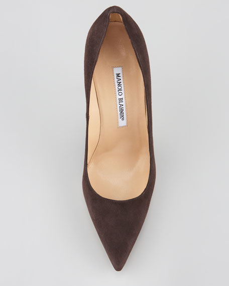 BB Suede Pointed Toe Pump