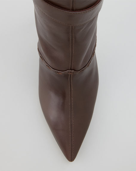 Toton Buckled Leather Boot