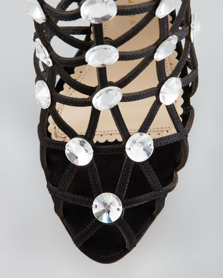 Galaxy Crystal Webbed Ankle Boot