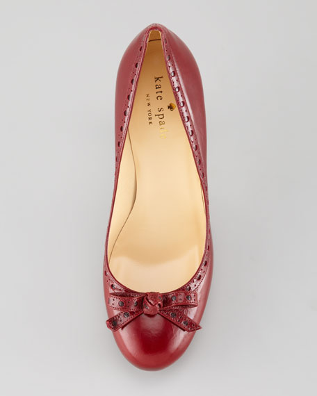 laughter brogue bow-toe pump