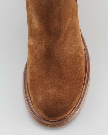 Cusna Ankle Moto Bootie, Chocolate