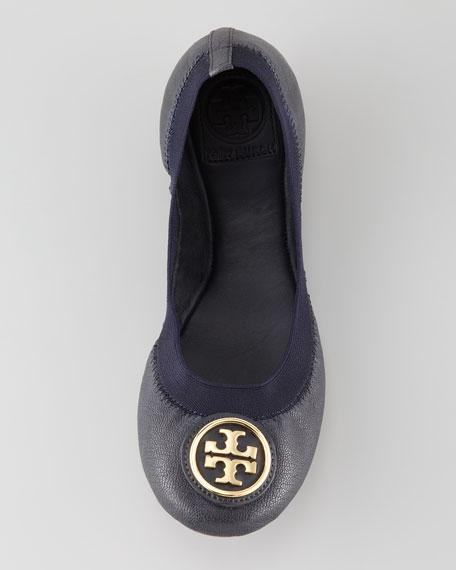 Caroline Logo Ballerina Flat, Navy