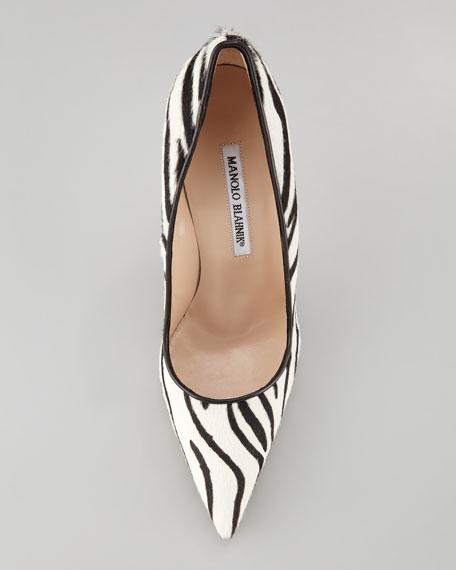 BB Zebra-Print Calf Hair Pump