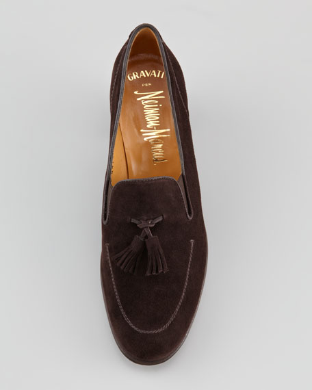 High-Heel Tassel Loafer, Brown