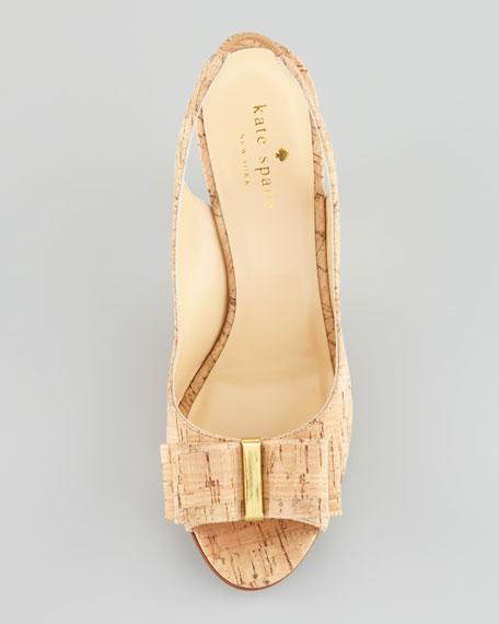 celeste cork open-toe slingback