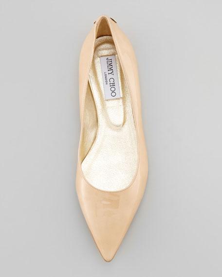 Glenda Pointed Toe Ballet Flat, Nude