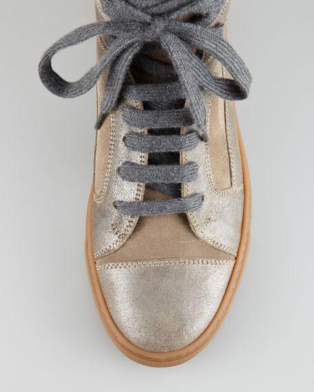 Metallic Suede Sneaker