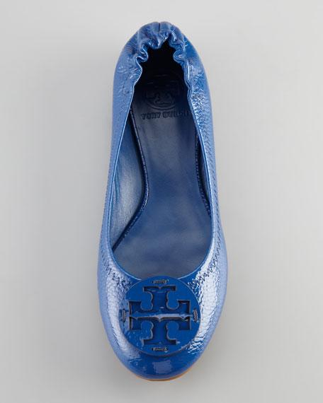 Reva Patent Ballerina Flat, Blue
