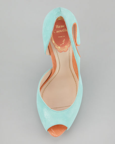Two-Tone Shimmer d'Orsay Pump