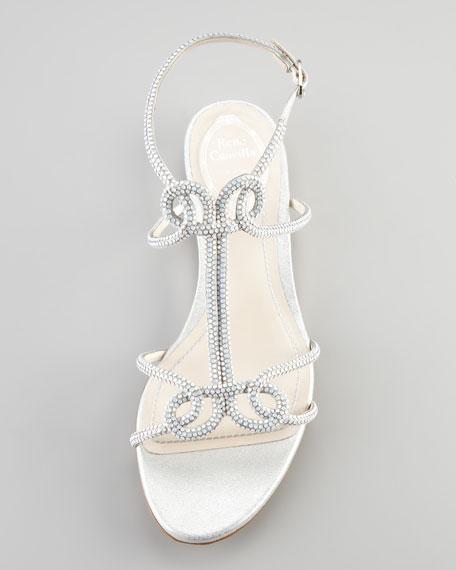 Flat Strass Sandal