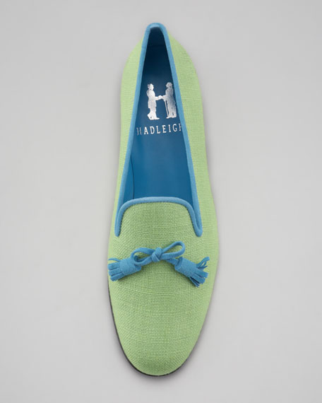 Audrey Smoking Slipper, Lime