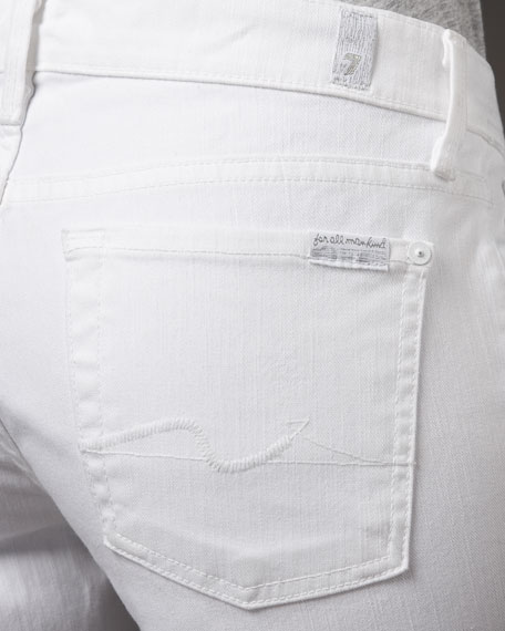 Straight Leg Clean White Jeans