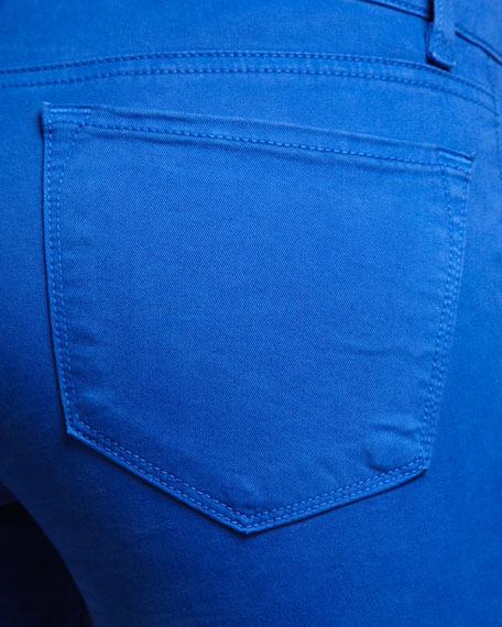 811 Mid-Rise Skinny Twill Jeans, Royal