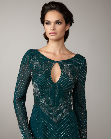 Sequin Keyhole Dress