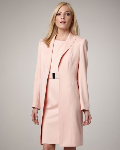 Dress With Matching Long Coat | Down Coat