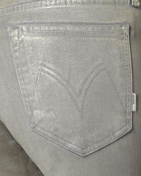 The Looker Golden Metallic Skinny Jeans