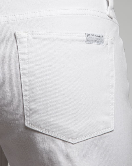 Slim Straight-Leg Ankle Jeans, Clean White