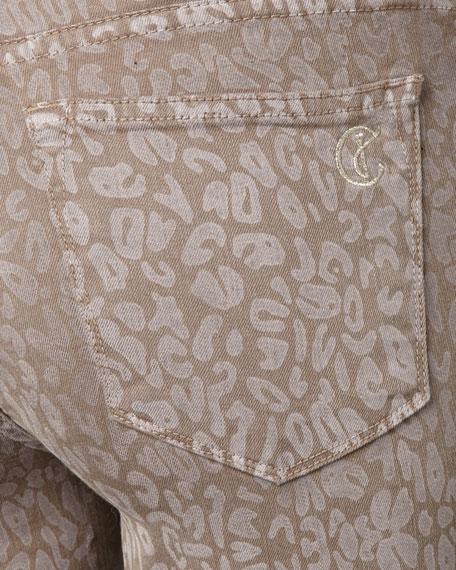 Joy Cheetah-Print Legging Jeans