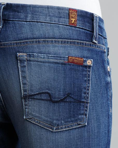 Kimmie Worn Whiskered Straight-Leg Jeans