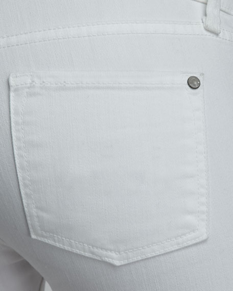 Denim Bermuda Shorts, White