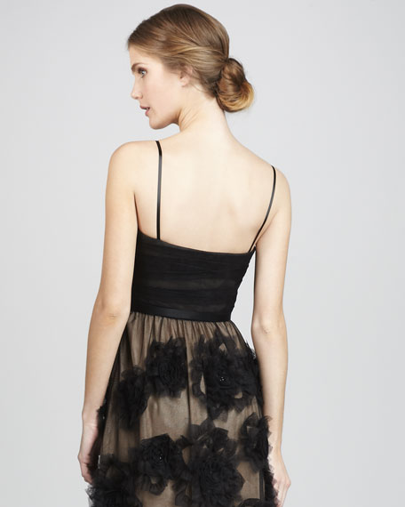 Brittany Floral-Chiffon Dress