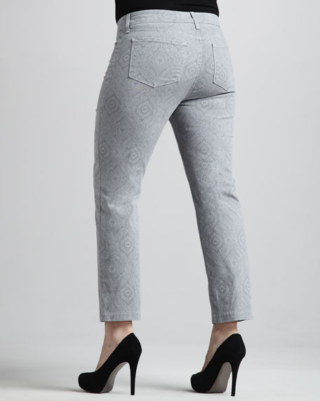 Audrey Henna-Print Ankle Pants, Women's