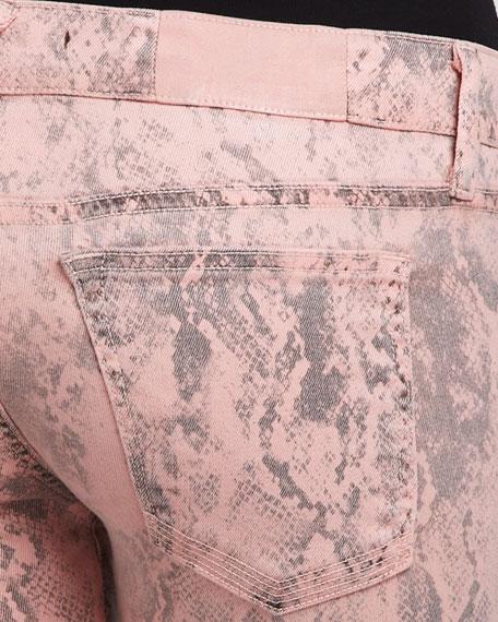 Deb Printed Skinny Jeans, Rose