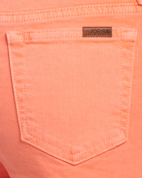 "Highlighter High-Rise Cutoff Shorts, 1 1/2"" Inseam"