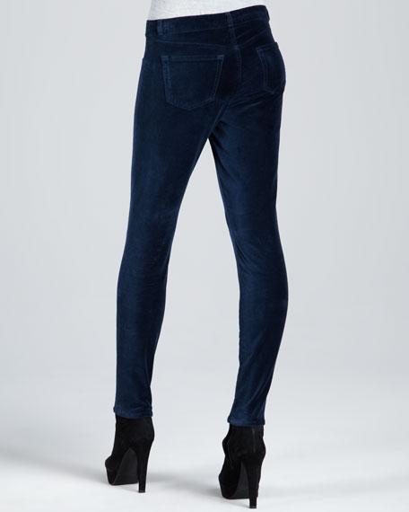 801 Nirvana Blue Velvet Skinny Jeans