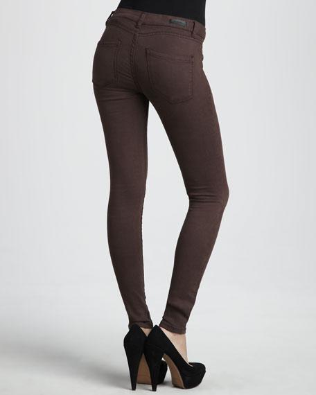 Spray-On Skinny Jeans, Brown