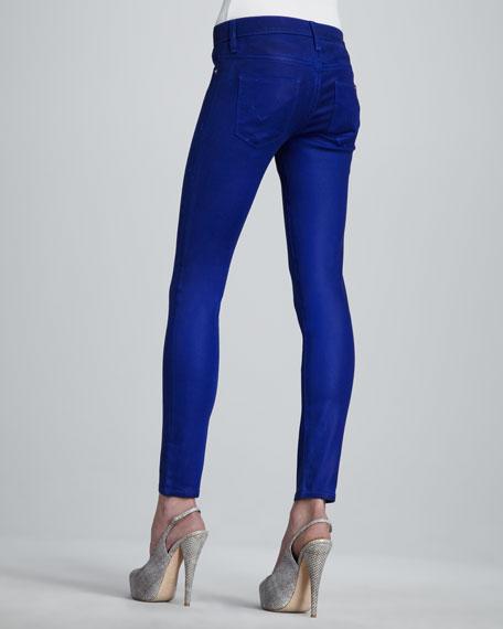 Krista Super Skinny Waxed Jeans, Blue My Mind
