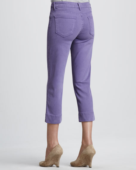 Mercy Cropped Twill Jeans