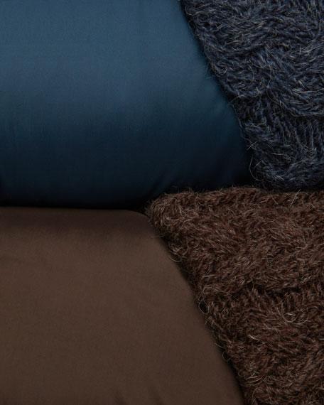 Maeve Knit-Trim Puffer Coat
