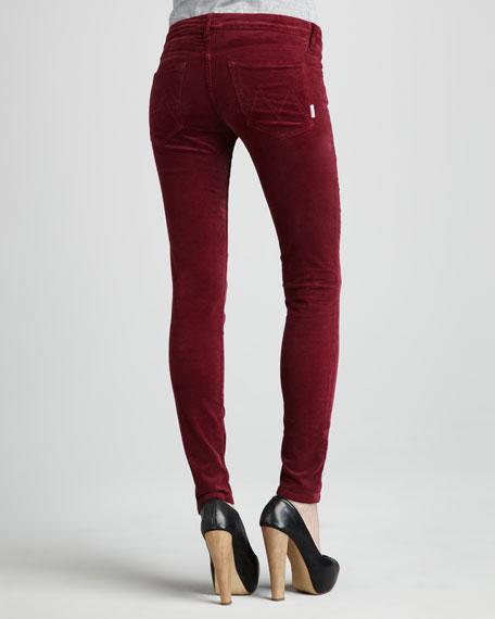 The Looker Sweet Wine Velvet Skinny Jeans