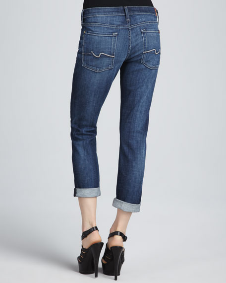 Josefina Royal Mt Valley Squiggle-Stitch Boyfriend Jeans