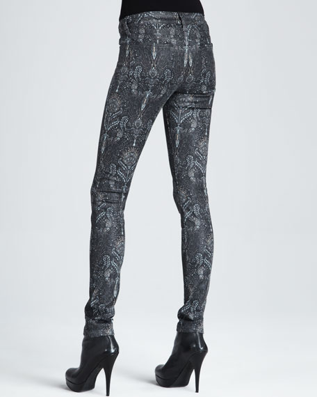 The Skinny Coated Black Baroque Jeans